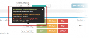 Additional Description For Choosing the Right Risk Level