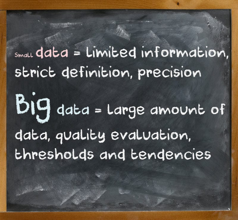 Formula 5 small data vs big data