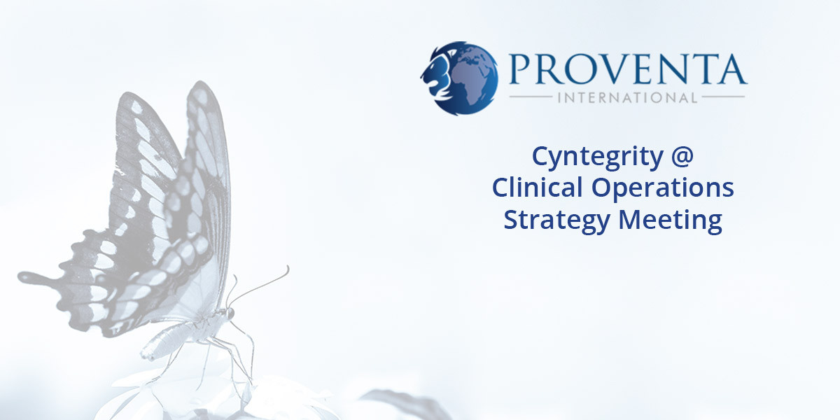 Cyntegrity @ Clinical-Operations-Strategy-Meeting